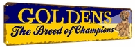 Golden Retriever Metal Vintage Sign