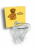 Golden Retriever Mini Basektball Hoop
