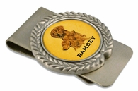 Golden Retriever Pewter Money Clip