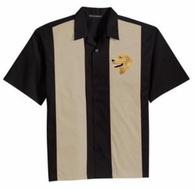 Golden Retriever Retro Camp Shirt