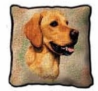 Golden Retriever Tapestry Pillows