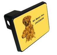 Golden Retriever Trailer Hitch Covers