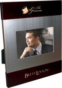 Groom Brush Silver Frame