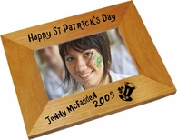 Happy St. Patrick's Day Wood Picture Frame