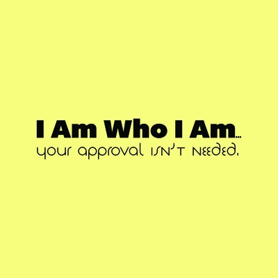 I Am Who I Am.  Your Approval Isn't Needed T-Shirt