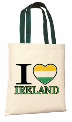 I Love Ireland Tote Bag