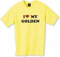 I Love My Golden T-Shirt