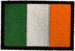 Irish Embroidered Flag Patch