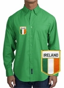 Irish Flag Long Sleeve Oxford