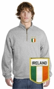 Irish Flag Patch 1/4 Zip Pullover