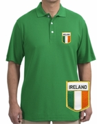 Irish Flag Patch Polo