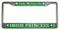 Irish Princess License Plate Frame