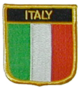 Italy Embroidered Shield Patch