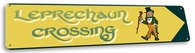 Leprechaun Crossing Vintage Metal Sign