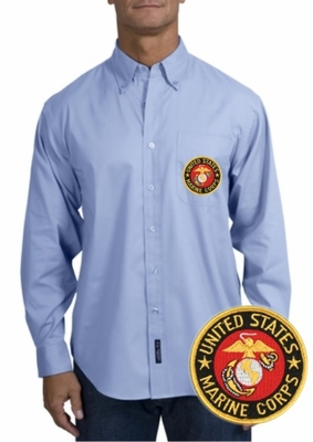 Marines Long Sleeve Oxford