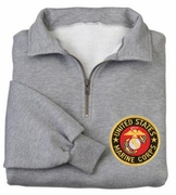 Marines Patch 1/4 Zip Pullover