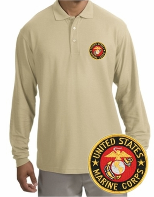 Marines Patch Long Sleeve Polo