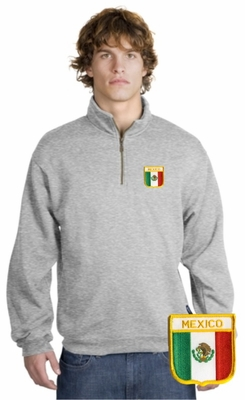 Mexico Patch 1/4 Zip Pullover