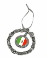 Mexico Pewter Holiday Ornament