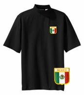 Mexico Short Sleeve Mock Turtleneck