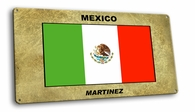 Mexico Vintage Metal Short Sign