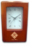 Monogrammed Gifts Desk Clock