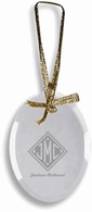 Monogrammed Gifts Glass Ornament