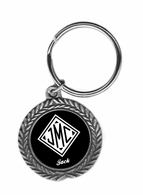 Monogrammed Gifts Pewter Key Ring