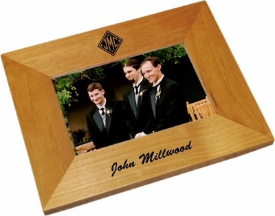 Monogrammed Gifts Wood Picture Frame