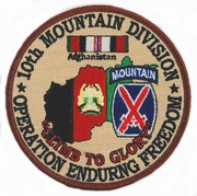 Operation Enduring Freedom Patches