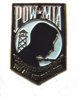 POW*MIA (Black) Pin
