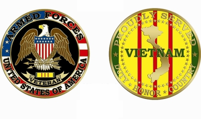 Proudly Served Vietnam Coin