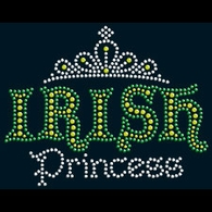 Rhinestone Irish Princess with Tiara Shirts