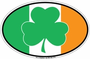Shamrock & Irish Flag Car Magnet