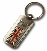 Silver Inlay Britain Key Chain