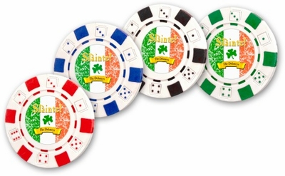 "Slainte Irish ""To Health""  Poker Chips"