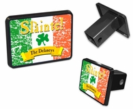 "Slainte Irish ""To Health""  Trailer Hitch Covers"