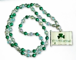 St. Patrick's Day Alloy Flag Beads