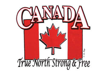 True North Strong & Free T-shirt