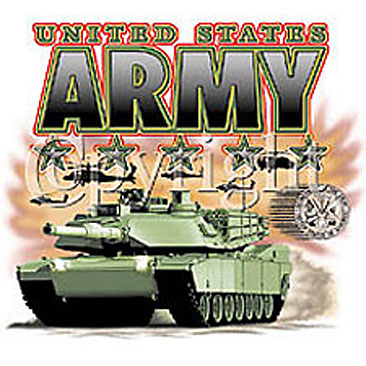 United States Army with Tank Shirts