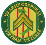 US Army Corporal Vietnam Veteran Patch