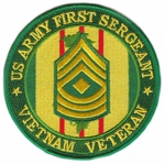 US Army First Sergeant Vietnam Veteran Patch