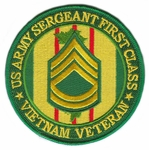US Army Sergeant First Class Vietnam Veteran Patch