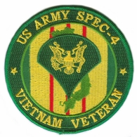 US Army Spec 4 Vietnam Veteran Patch
