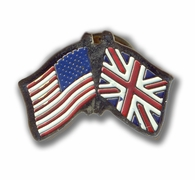 USA & Britain Flags Pin