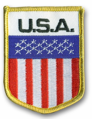 USA Crest Flag Patch
