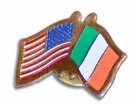 USA & Ireland Flags Pin