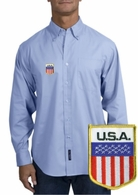USA Long Sleeve Oxford