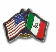 USA & Mexico Flags Pin