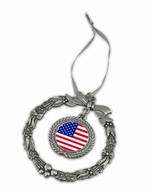 USA Pewter Holiday Ornament